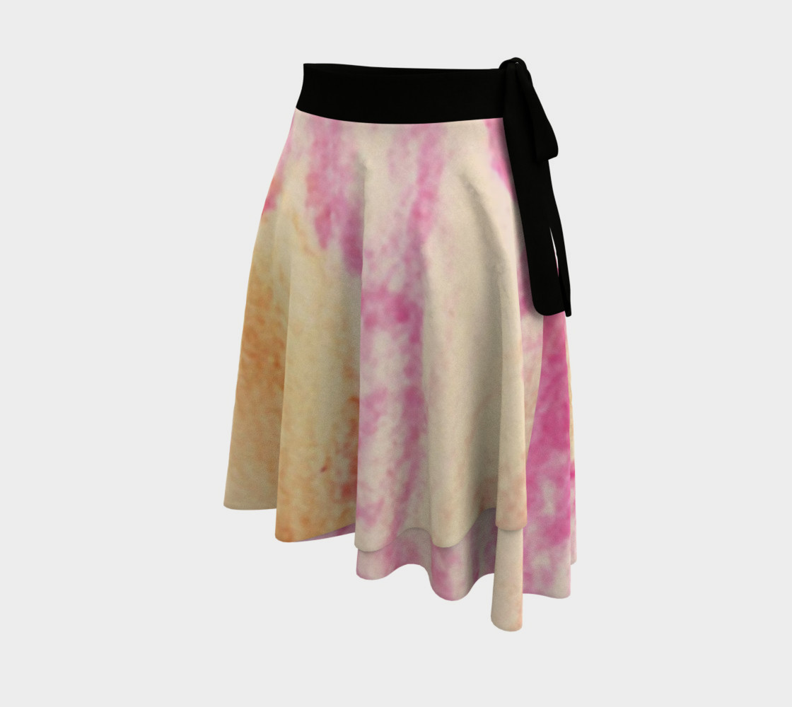 Pink Flowerets Wrap Skirt preview #2