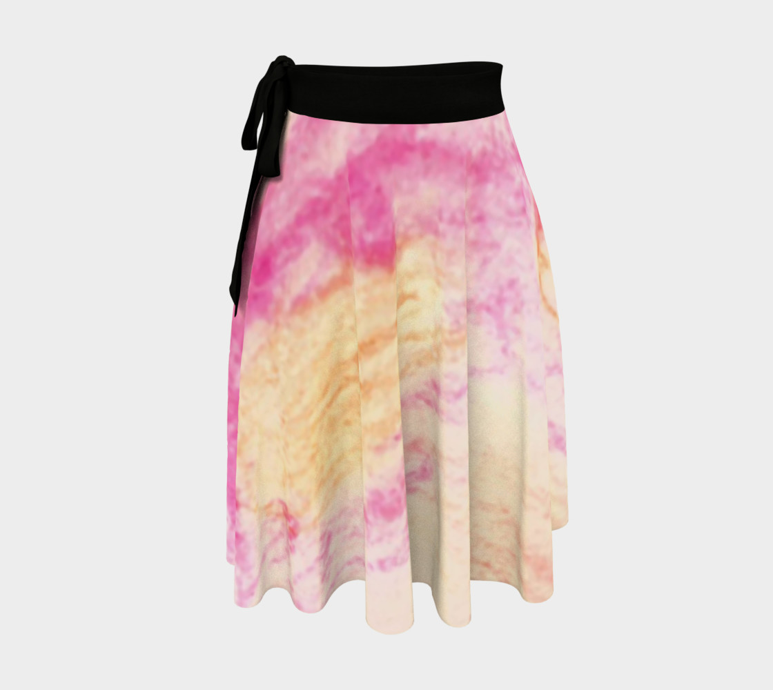 Pink Flowerets Wrap Skirt preview #1
