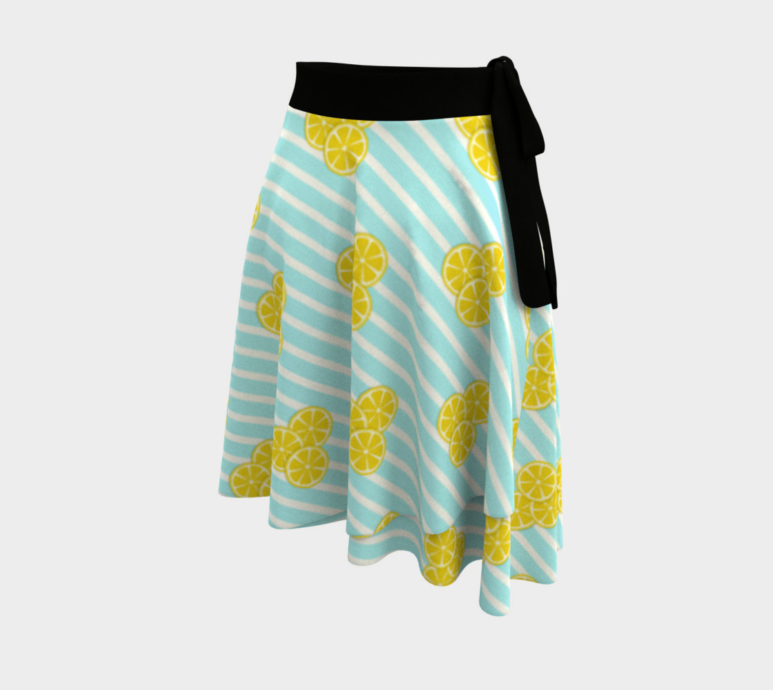 Lemon Slices on Light Blue Stripes preview #2