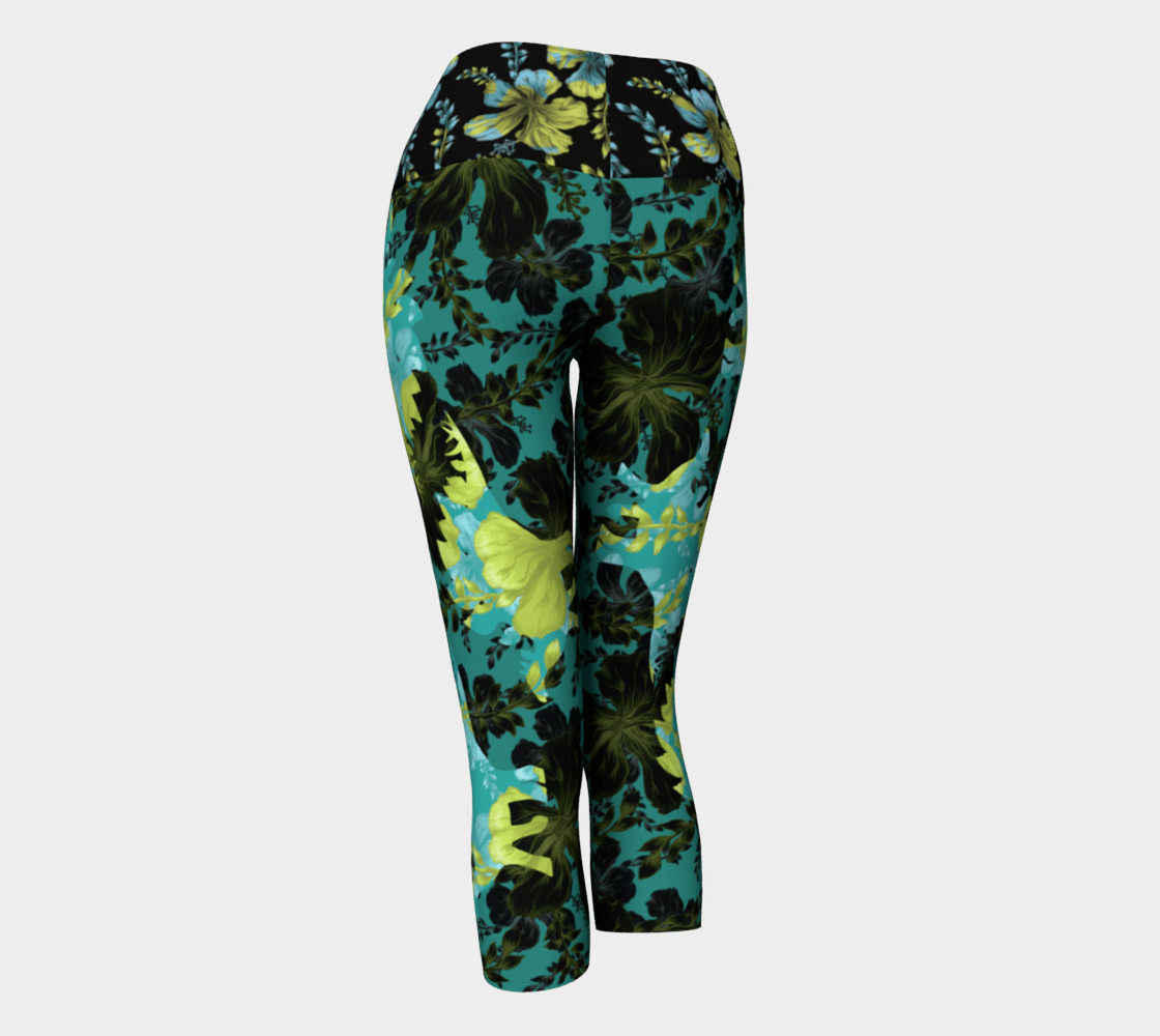 Jurassic Yoga Capri - Green Blue preview #3