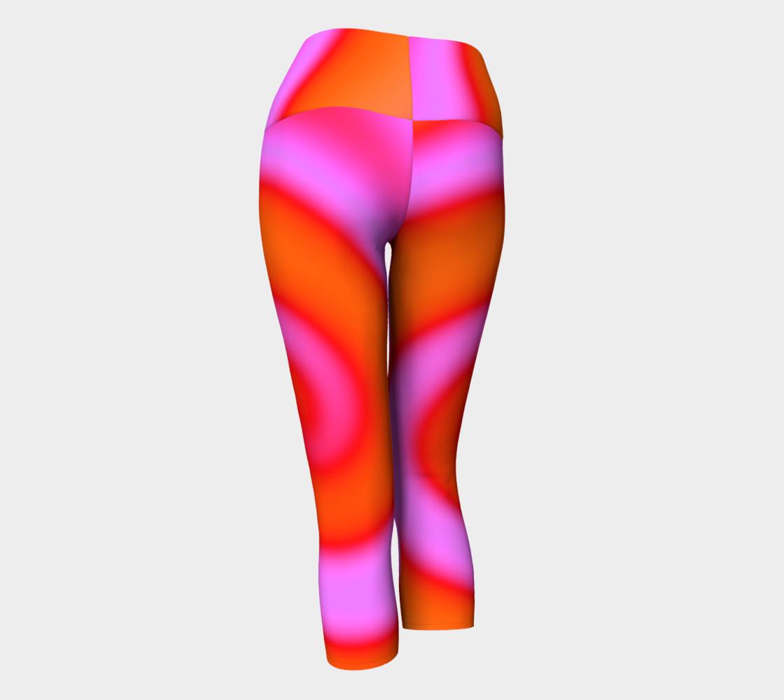 Bright Colorful Orange Pink Swirl preview #3