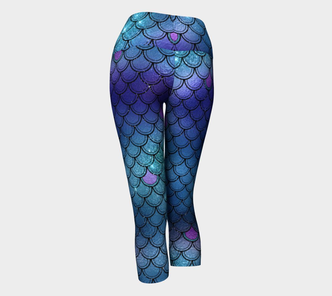 Mermaid Yoga Pants - Blue preview #3