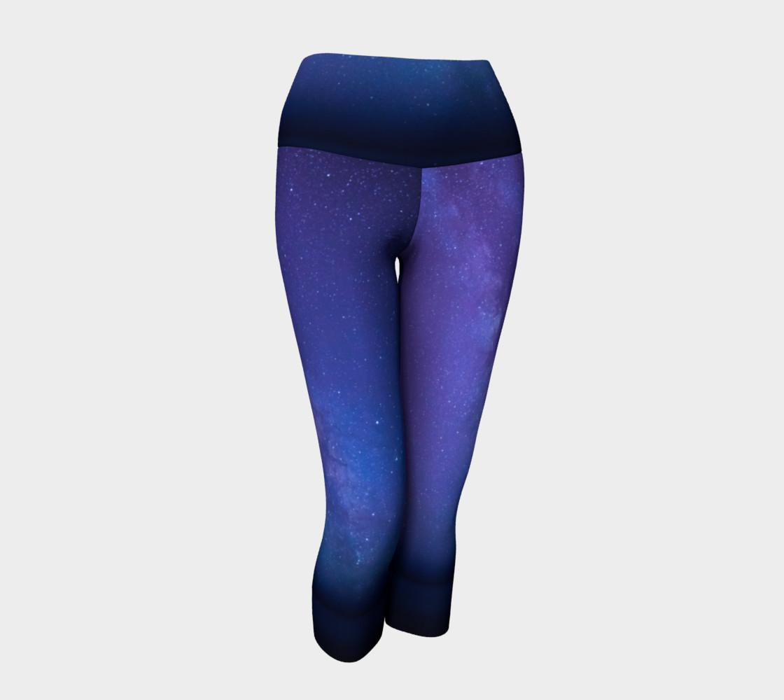 Milky Mystic Way Yoga Capris preview #1