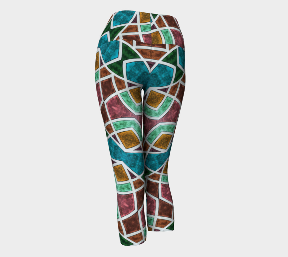 Geometric Marble Yoga Capris II preview #3