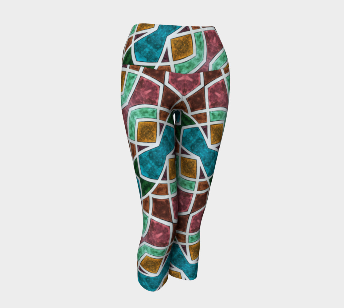 Geometric Marble Yoga Capris II preview #1