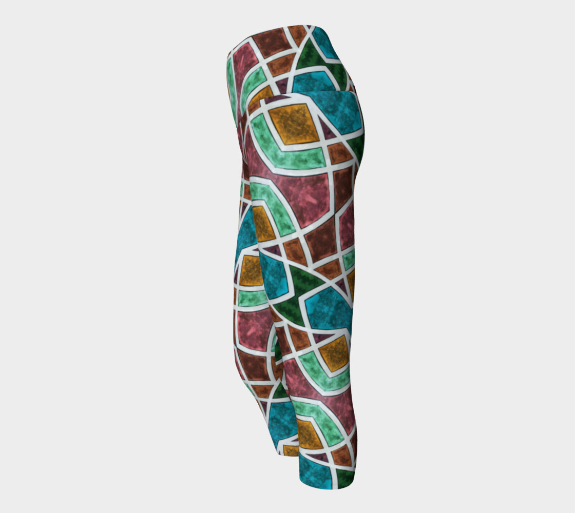 Geometric Marble Yoga Capris II preview #2