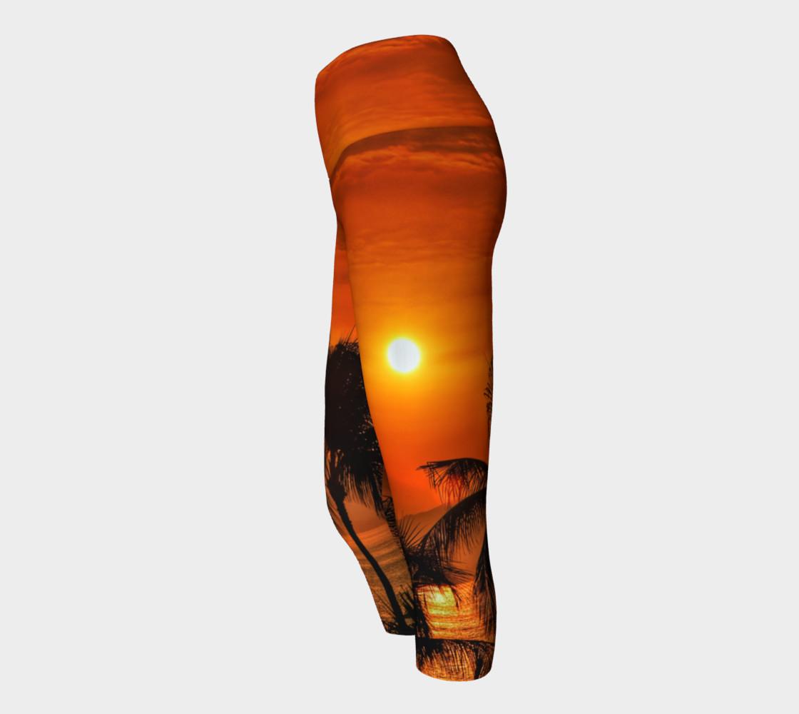 Mexican Sunrise Yoga Capris preview #2