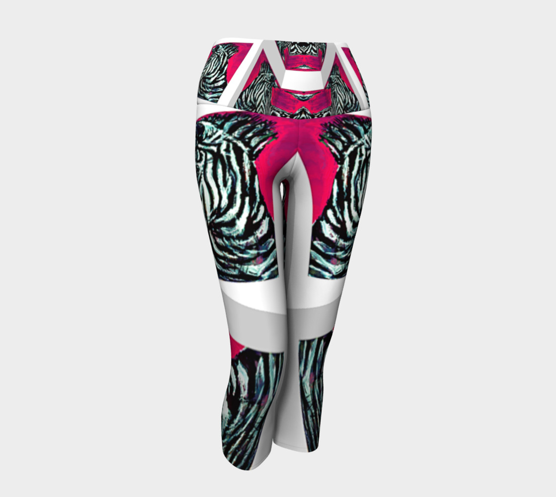 Abrica-Zebra / Devin Art Match Yoga Capris preview #1