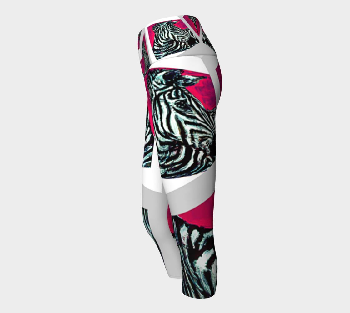 Abrica-Zebra / Devin Art Match Yoga Capris preview #2