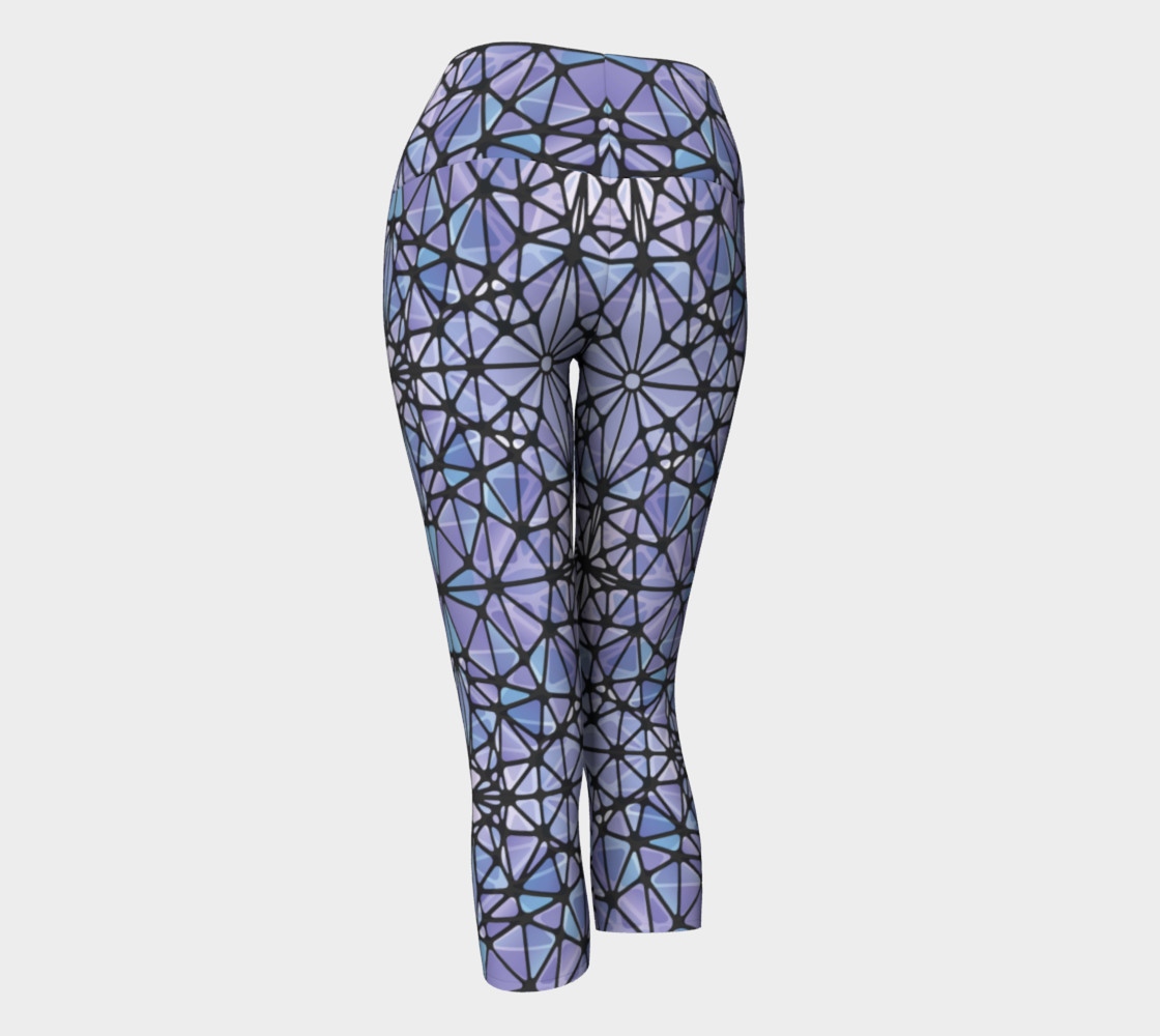 Purple and Blue Kaleidoscope Yoga Capris preview #3