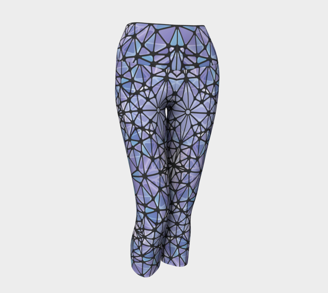 Purple and Blue Kaleidoscope Yoga Capris preview #1