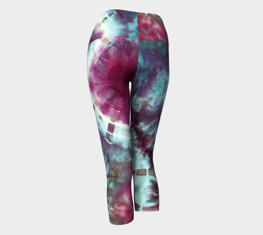 Pink Circles Yoga Capri preview #3