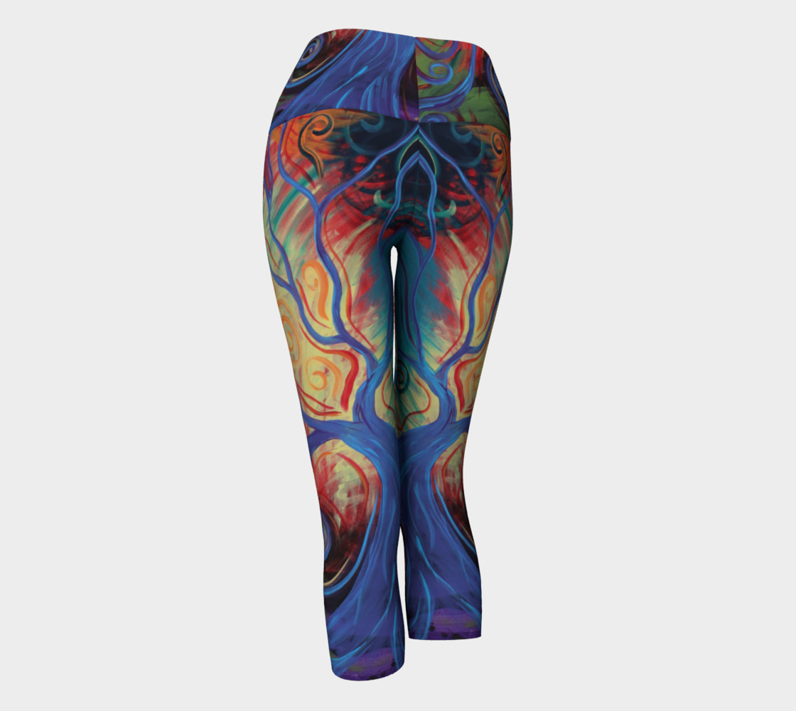 Tree of a Colourful Life Yoga Capris  preview #3