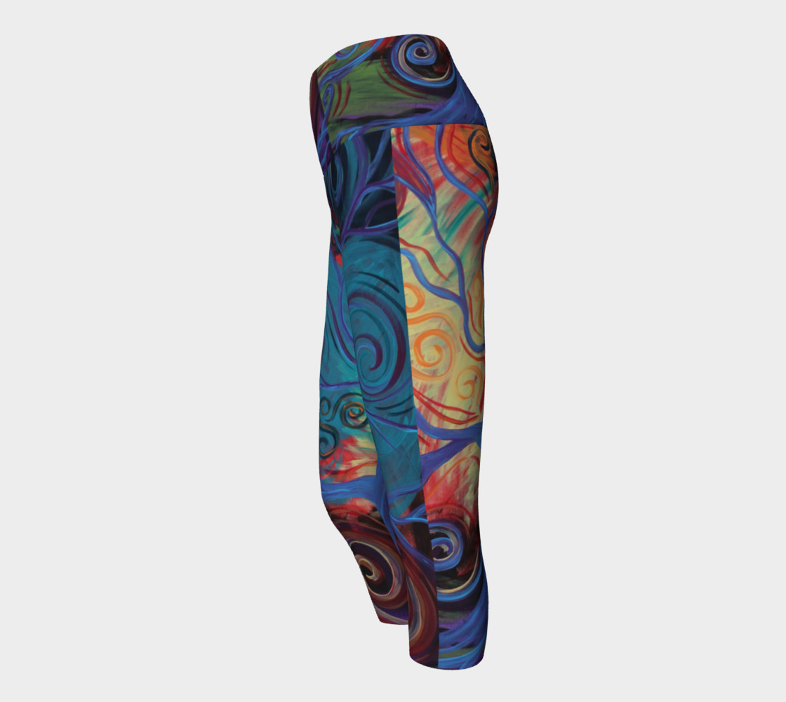 Tree of a Colourful Life Yoga Capris  preview #2