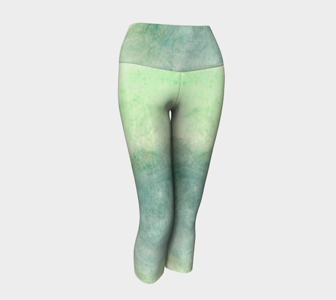 Green Dimension Flower Yoga Capris preview #1