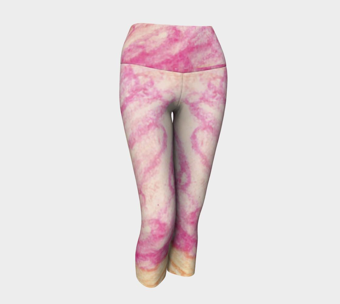 Pink Flowerets Yoga Capris preview #1