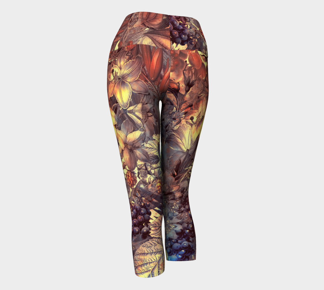 yoga capris magic flowers preview #3