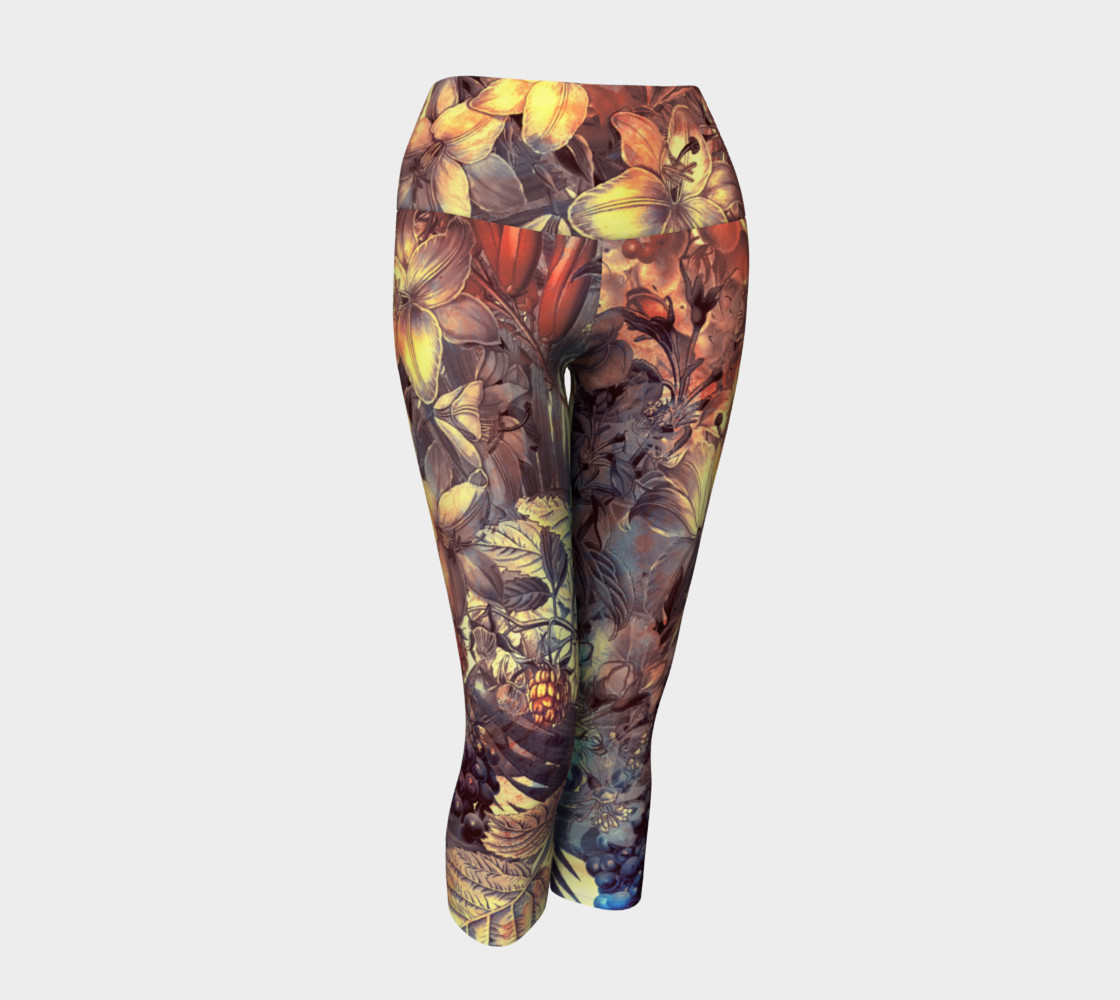 yoga capris magic flowers preview #1
