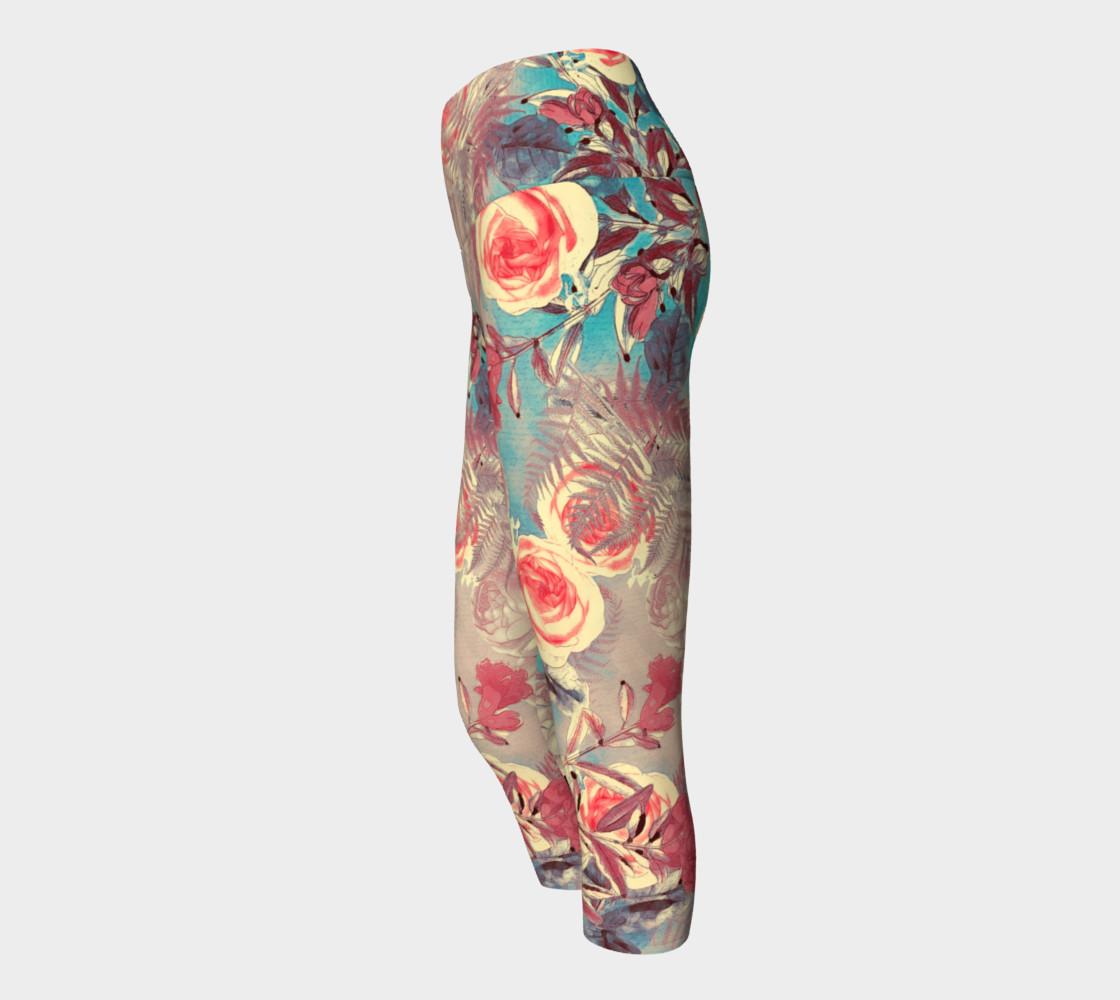 yoga capris light flowers preview #2