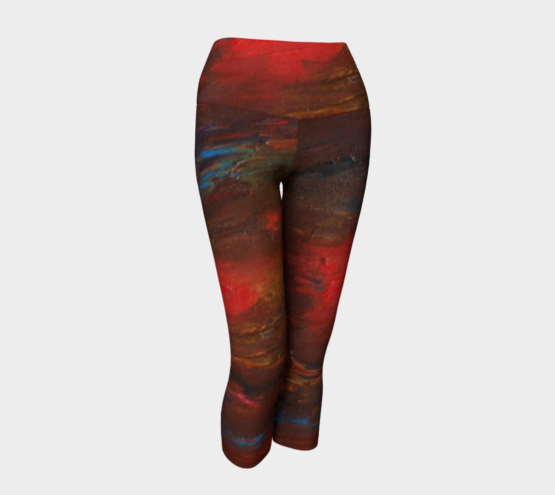Crimson Ocean Yoga Capris preview #1