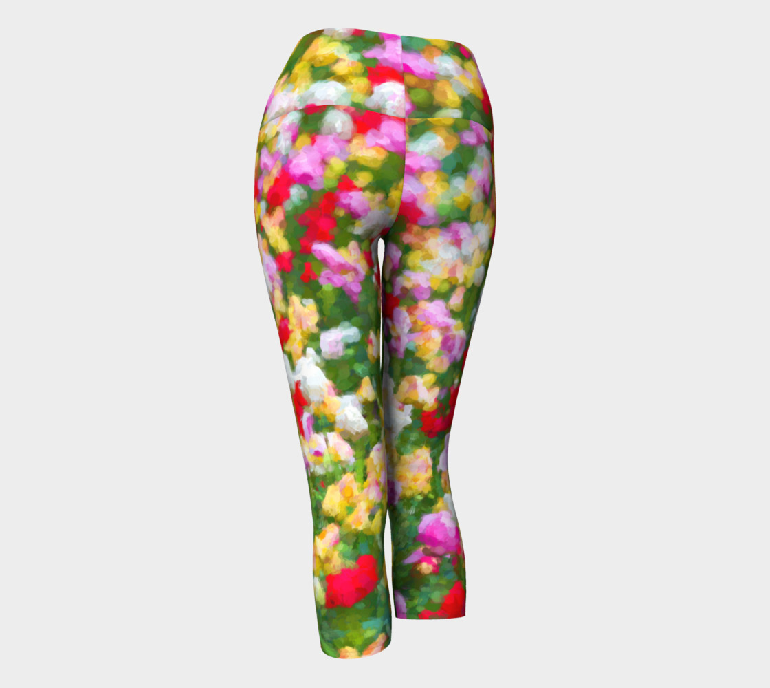 Painted Tulips Yoga Capris preview #3