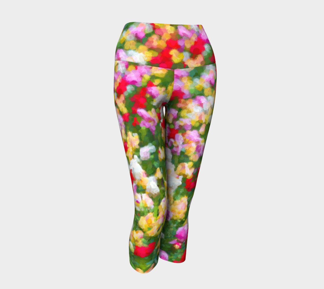 Painted Tulips Yoga Capris preview #1