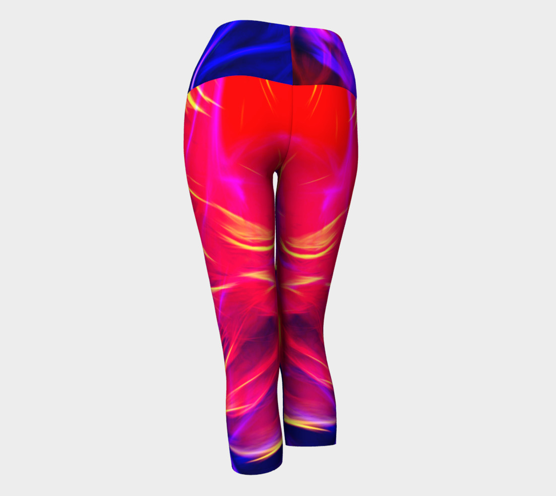 Electrified Dahlia Yoga Capris preview #3