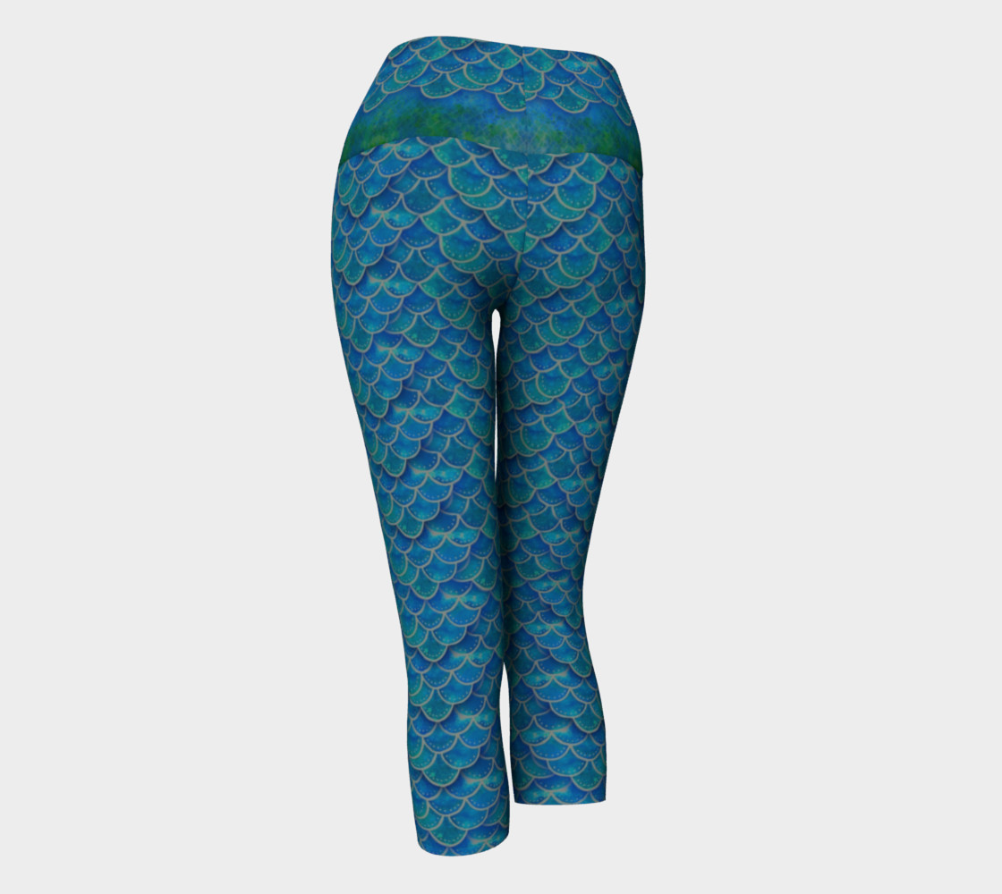 Mermaid Scales Capris All The Way Down preview #3