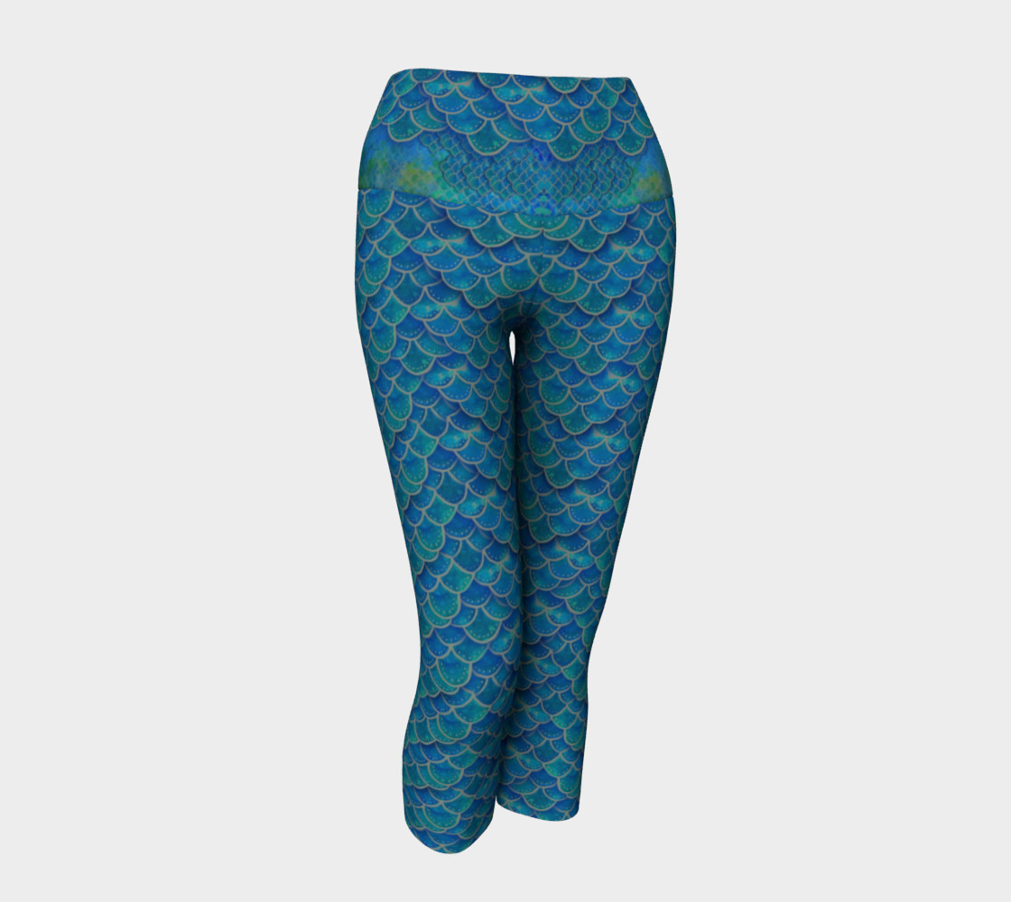 Mermaid Scales Capris All The Way Down preview #1
