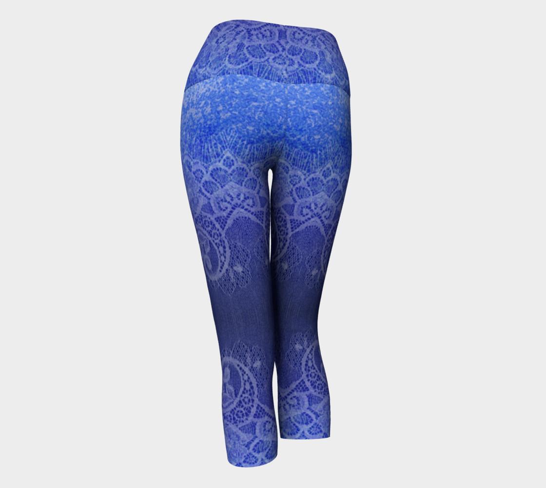 Blue Lace Ombre Capris preview #3