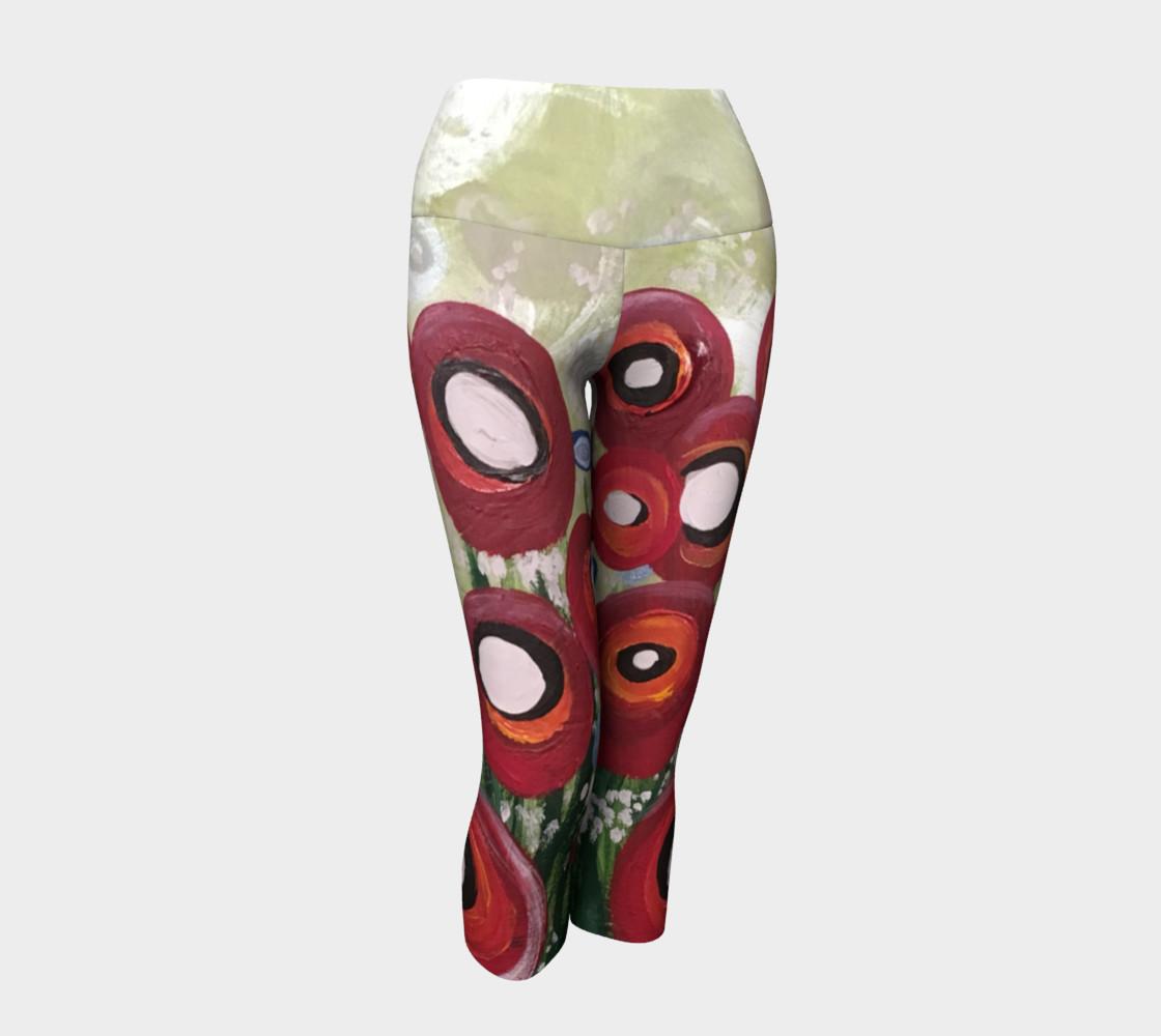 Whimsical Poppy Yoga Capris preview #1