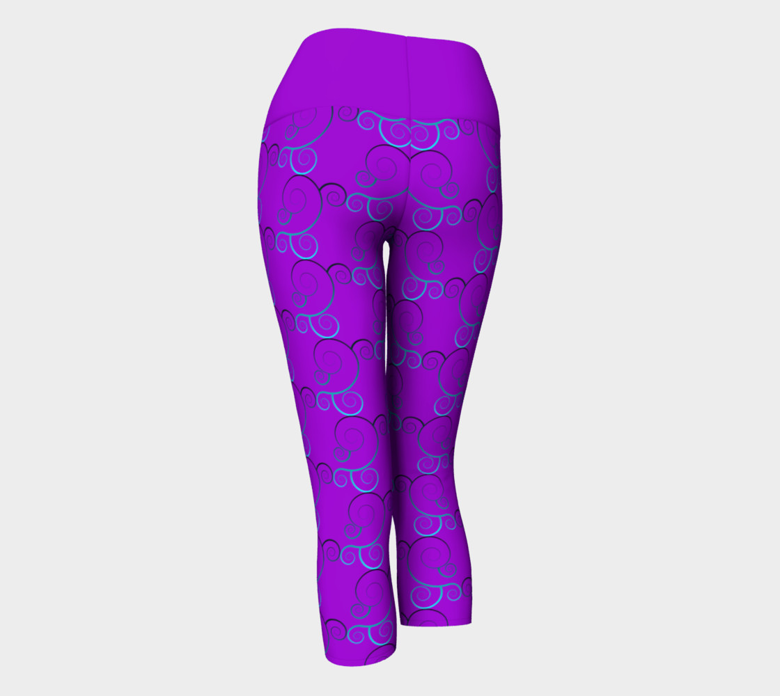 Spiral Wave Yoga Leggings preview #3