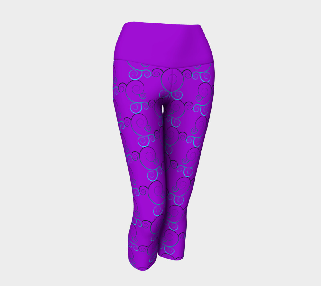 Spiral Wave Yoga Leggings preview #1