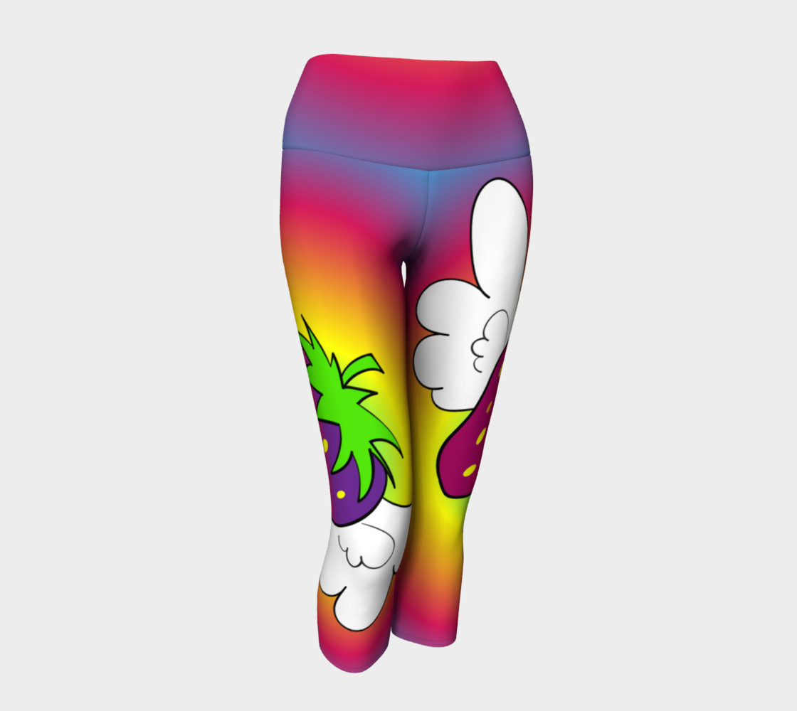 Crazy for Colors FlyBerry Yoga Capris preview #1