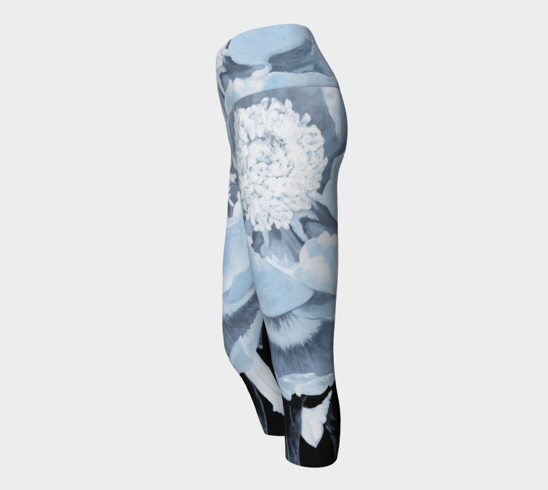 Peony For Your Thoughts Yoga Capris preview #2