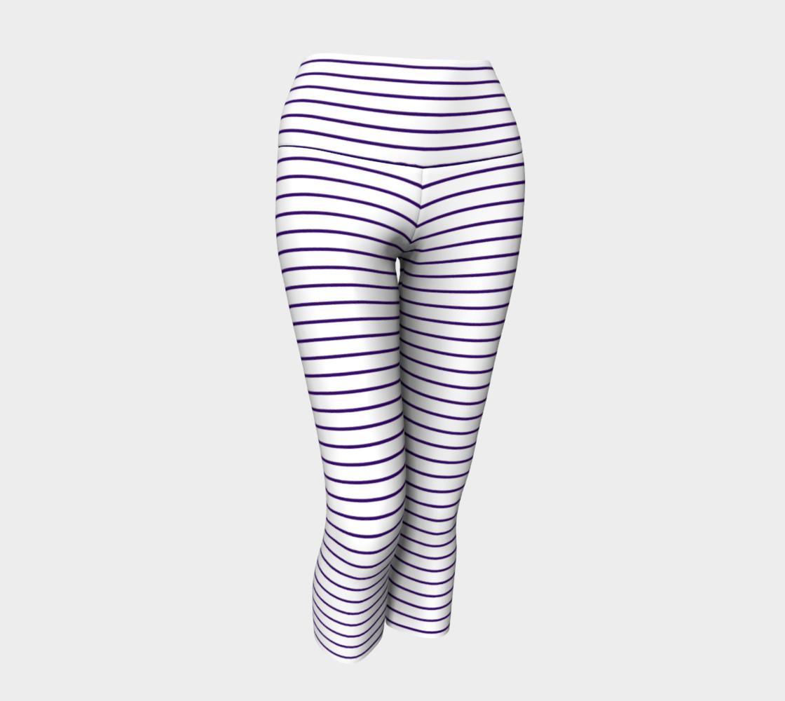 Lunatic Stripes White with Royal Purple Stripe preview #1
