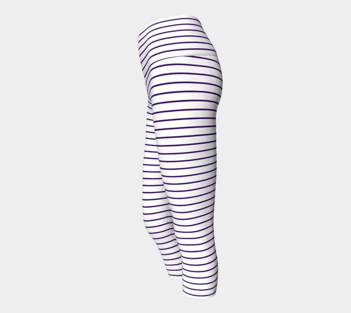 Lunatic Stripes White with Royal Purple Stripe preview #2