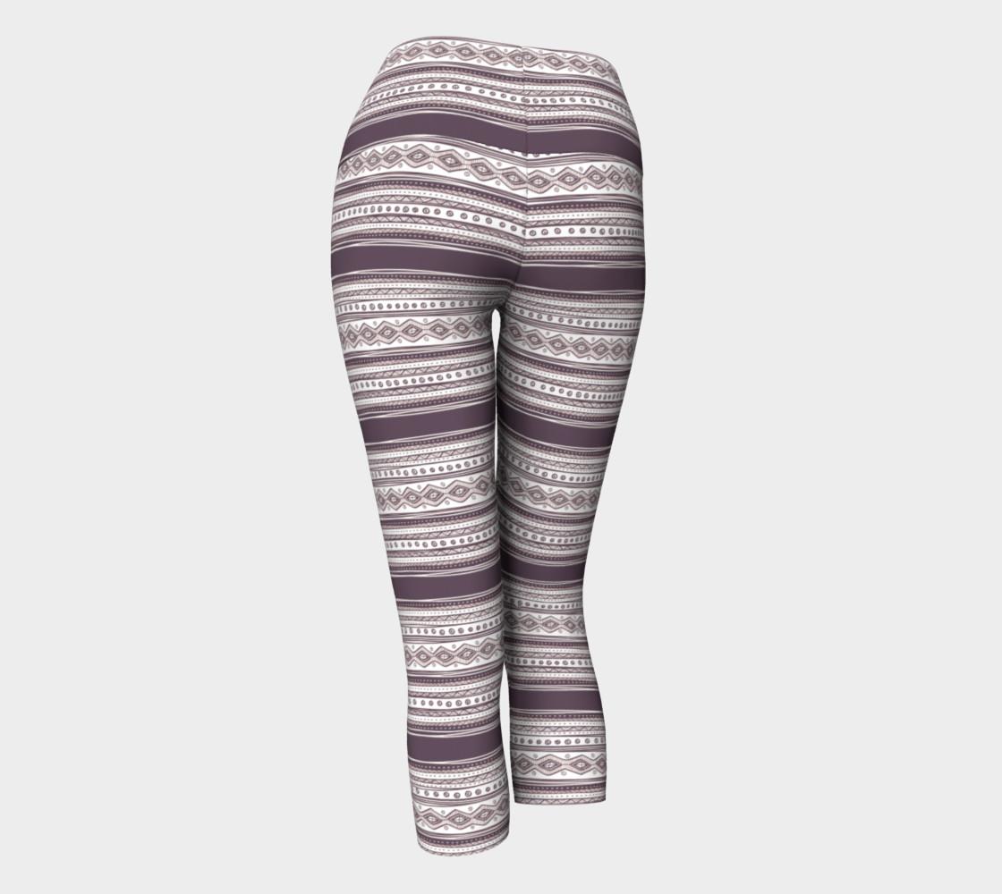 Lilac Pattern Yoga Capris preview #3