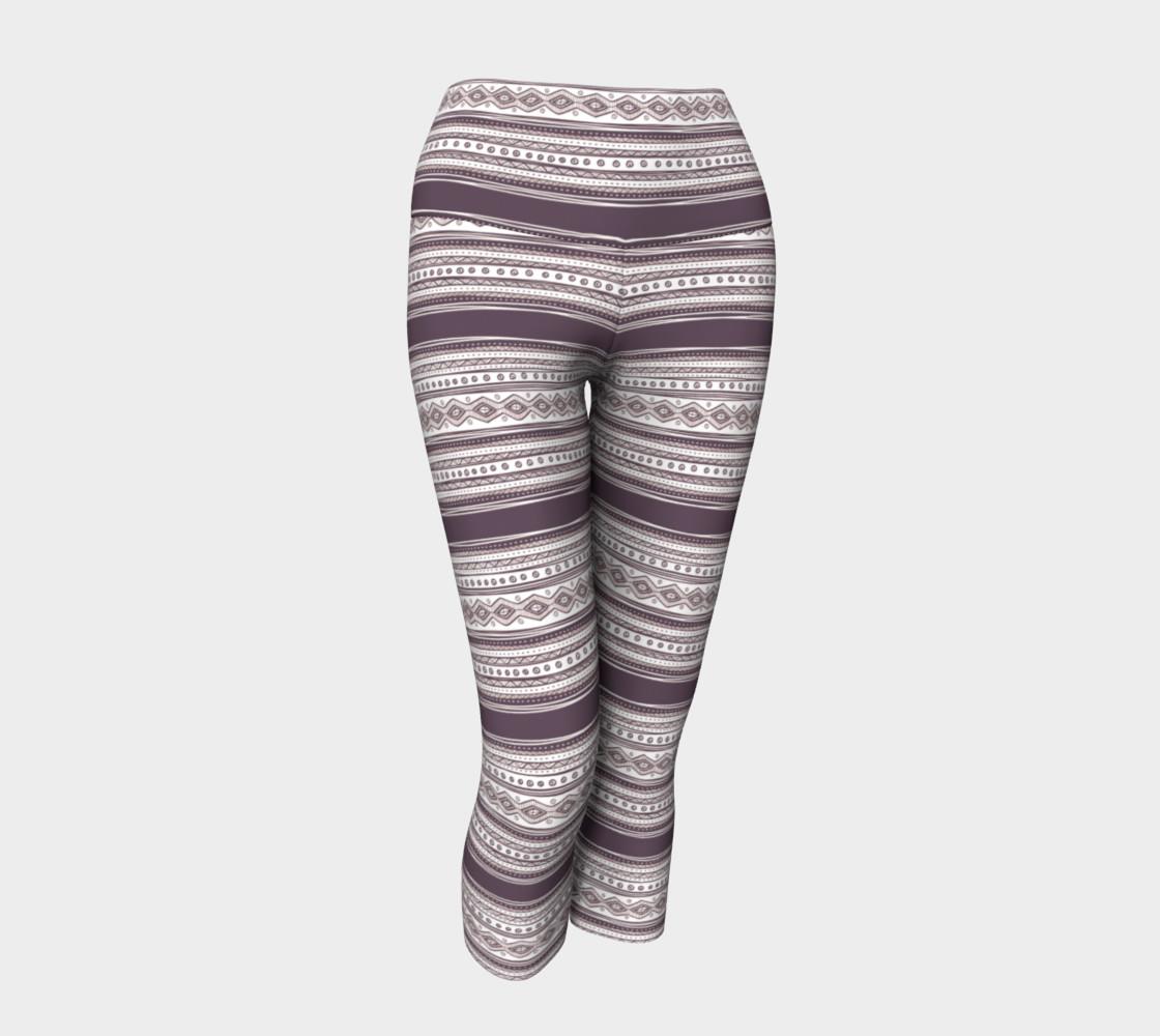 Lilac Pattern Yoga Capris preview #1
