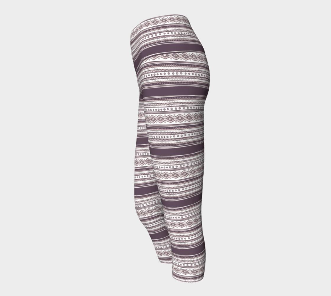 Lilac Pattern Yoga Capris preview #2