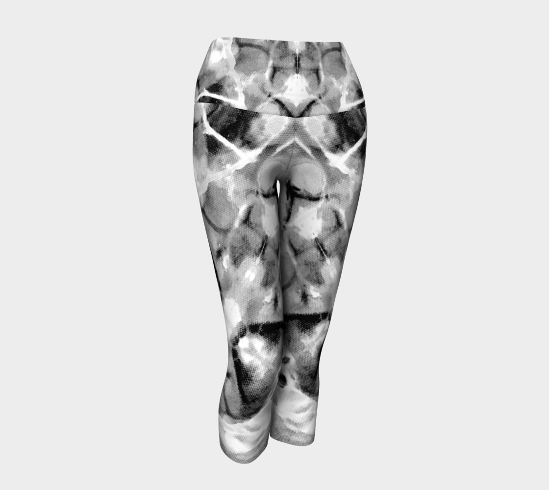 Gray Marble Yoga Capris preview #1