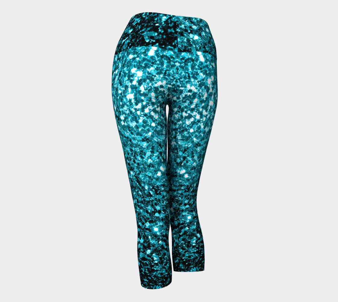 Beautiful Aqua blue glitter sparkles preview #3