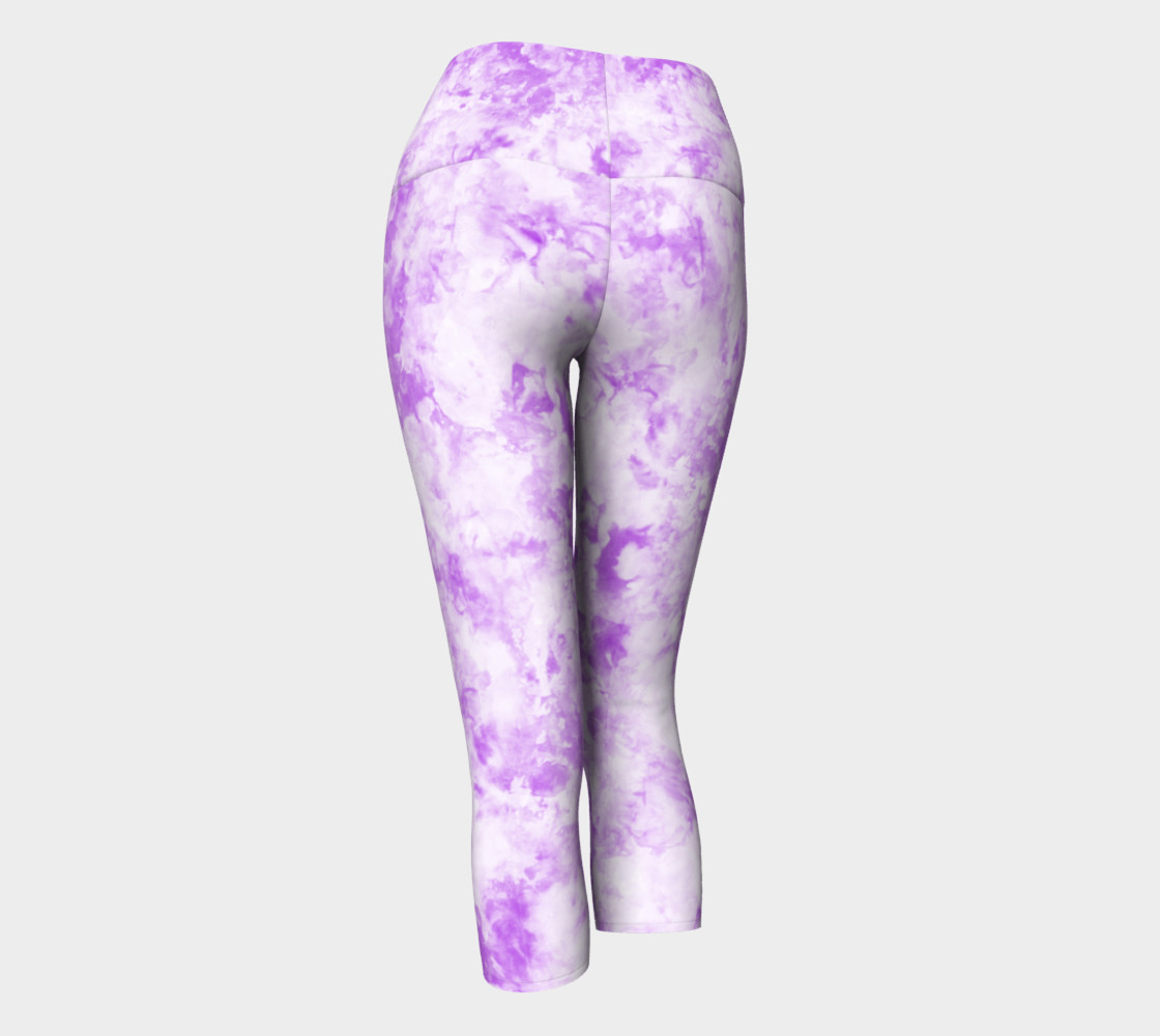Lavender Ice Dye Capri preview #3