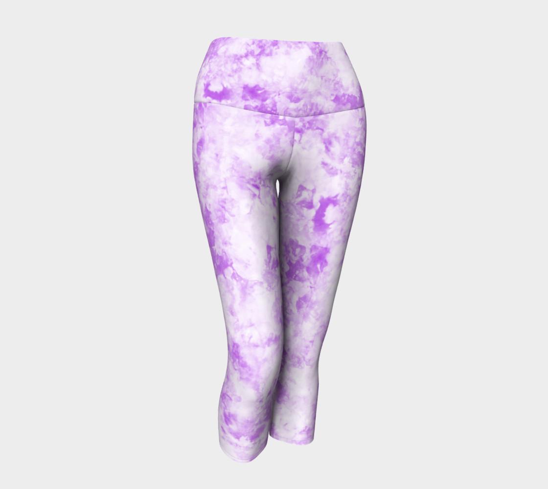 Lavender Ice Dye Capri preview #1