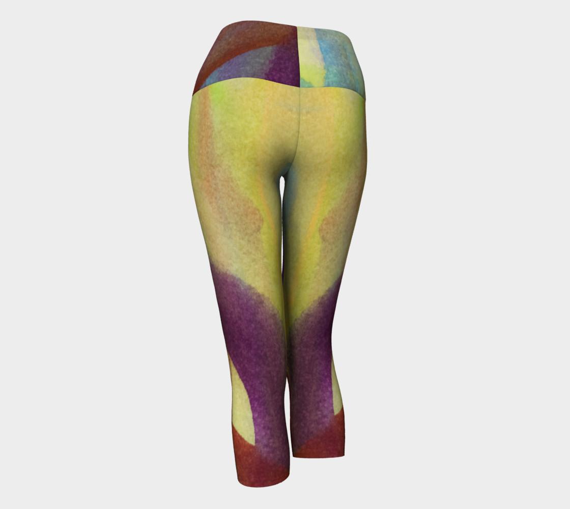 Tropical Watercolor Variation Yoga Capris preview #3