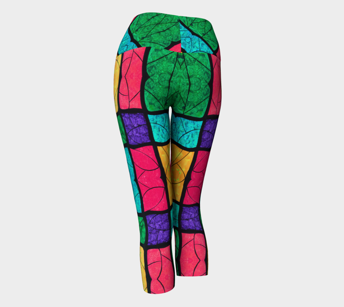 Nouveau Stained Glass Yoga Capris preview #3