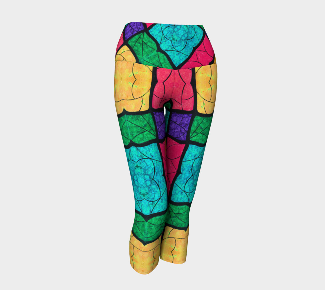 Nouveau Stained Glass Yoga Capris preview #1