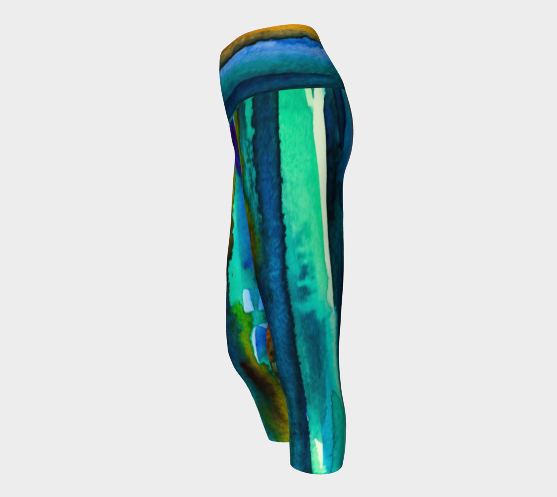 Watercolor Fashion Yoga Capris preview #2
