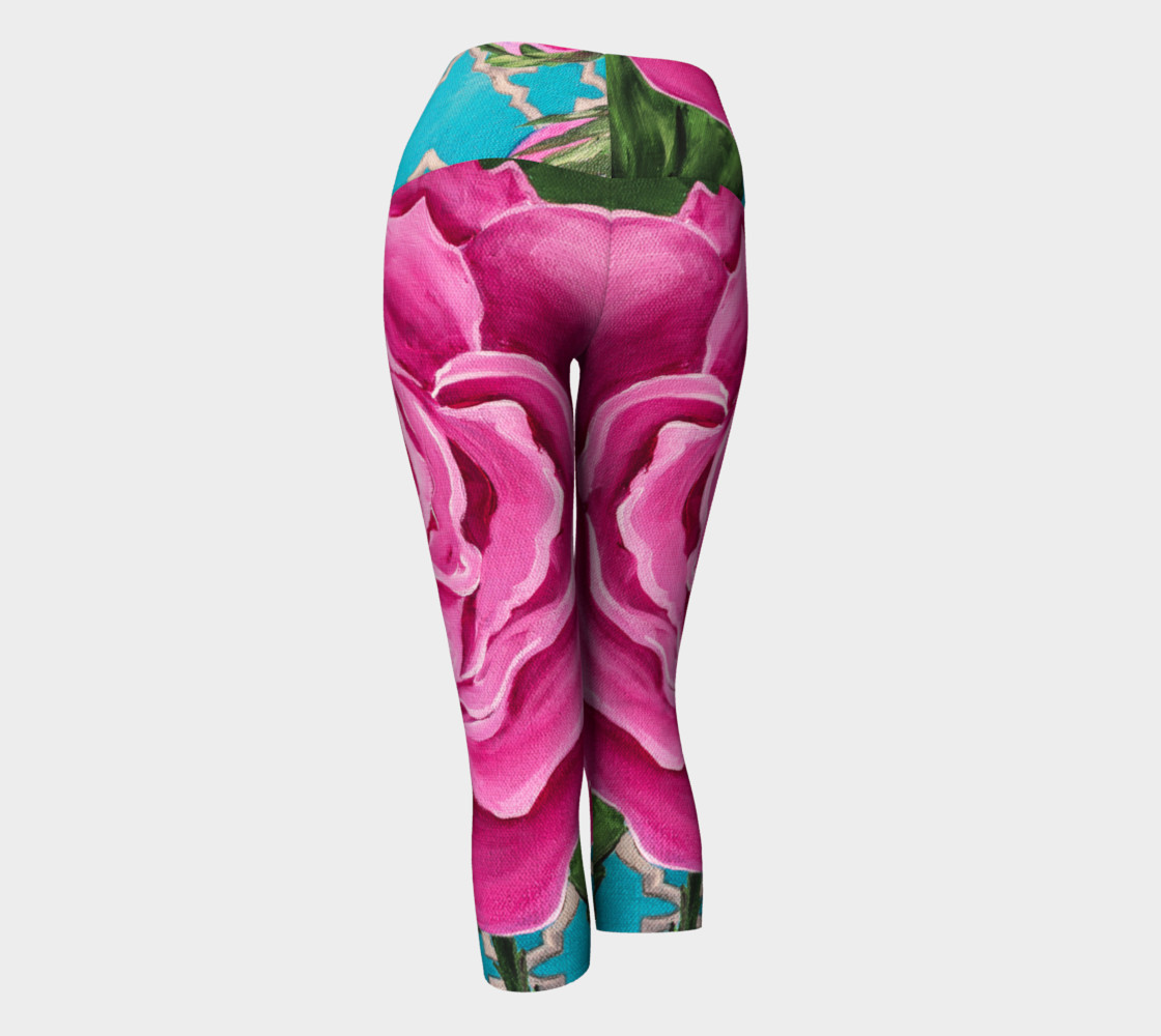 Mother's Day Roses Yoga Capris preview #3