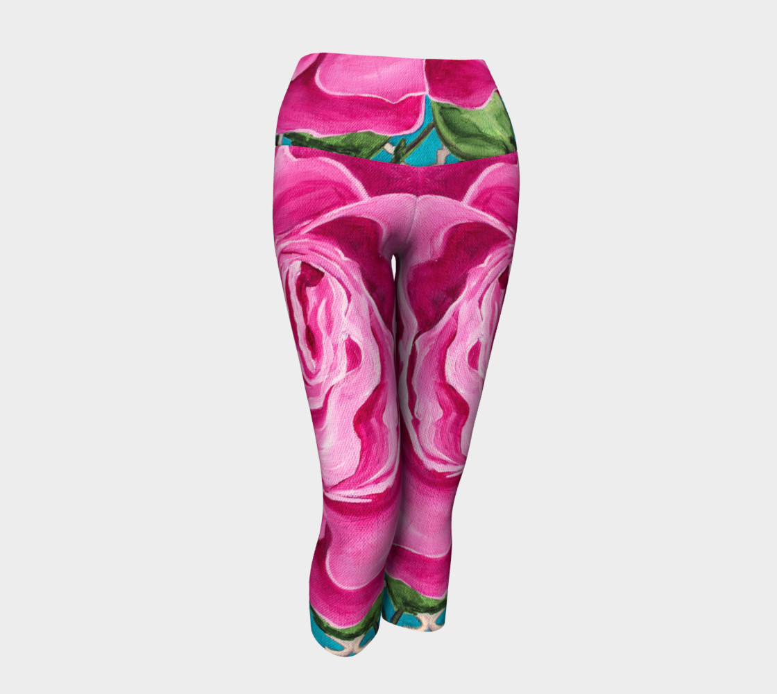 Mother's Day Roses Yoga Capris preview #1